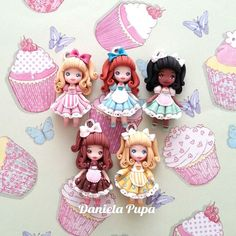 daniela pupa biscuit -polymer clay, masa flexible, porcelana fria, cold porcelain, biscuit, cernit