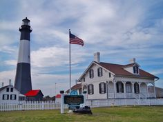 Includes lighthouse keeper's and assistant's quarter's, summer house, typical Tybee Island vacation house and gift shop. Best Vacations, Vacation Trips, Vacation Spots, Tybee Island Lighthouse, Great Places, Places To Go, Tybee Island Georgia, Beach Honeymoon Destinations, Down South