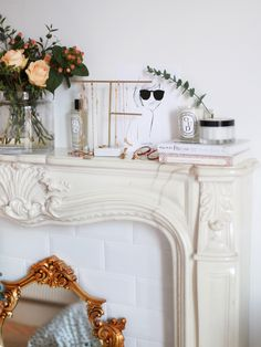 I'm slowly moving my trinkets, jewels, lotions and potions in to the bedroom – most of these bits were previously stored in my office room, so I was excited to rehome them in a proper space when I decided to turn the office in to an actual real workspace. I knew I would use the … Fall Home Decor, Autumn Home, Parisian Apartment, Faux Fireplace, Aesthetic Rooms, Dream Rooms, Room Themes, Inspired Homes, Home Interior Design