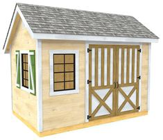 A simple, saltbox shed plan with a lumber list and easy, step by step design.