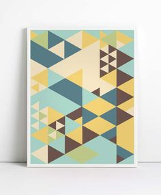 Triangles - potential quilt idea from print