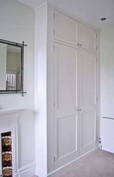ideas for airing cupboard storage ideas fitted wardrobes Alcove Wardrobe, Bedroom Alcove, Bedroom Built In Wardrobe, Bedroom Built Ins, Wardrobe Doors, Wardrobe Design, Bedroom Wardrobe, Bedroom Storage, Home Bedroom