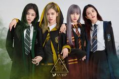 Blackpink in Hogwards. Credit to the owner Harry Potter Anime, Uzzlang Girl, Girl Day, South Korean Girls, Korean Girl Groups, K Pop, Hogwarts Uniform, Black Pink Kpop, Diy Crafts Love
