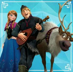 Anna, Kristoff, and Sven.