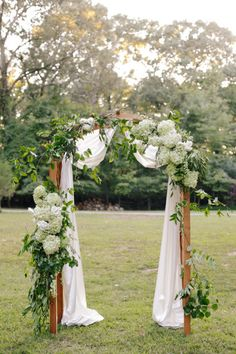 A casual, but beautiful wedding arch