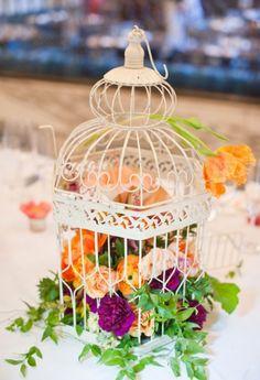 Beautiful birdcage centerpiece !