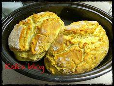 Ψωμί στην γάστρα Kalli's blog Dutch Oven Bread, Greek Recipes, Cornbread, Family Meals, Food And Drink, Cooking Recipes, Tasty, Baking, Breakfast