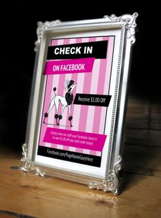 Printable Facebook check-in and like signs
