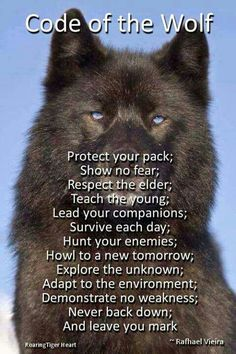 Code of the wolf - goes true for humans too!