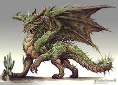 Cactus dragon design by Chaos-Draco on DeviantArt