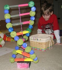 How to make a 3 d dna model for high school biology jennifer dna double helix model project ideas google search ccuart Choice Image