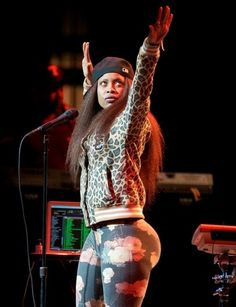 Erykah Badu Black Woman!! <3 behind... She love her some tights get it