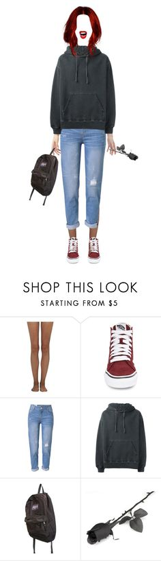 """""""lets get outta here"""" by wtfchelsea ❤ liked on Polyvore featuring Wolford, Vans, WithChic, adidas Originals and JanSport"""