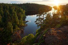 Июльский закат на острове Валаам. Гора Елеон — National Geographic Россия