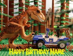 There's a dinosaur for every age with exciting LEGO® Jurassic World™ play sets featuring cool vehicles, heroic characters, iconic buildings, laboratories, scientific equipment and Jurassic World Cake, Lego Jurassic Park, Lego Dinosaur, Dinosaur Party, Happy Birthday Name, 5th Birthday, Birthday Ideas, Lego Marvel's Avengers, Lego Creations