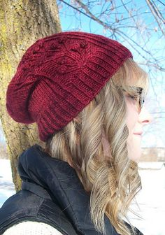 Ravelry: Cranberry Slouch Hat pattern by Michele C Meadows