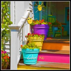 Beautiful splash of color to add life to your doorway