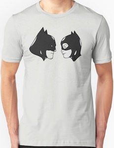 The Heads Of Batman And Catwoman T Shirt