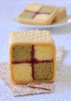 BATTENBURG CAKE~ A very old fashioned ENGLISH Tea time cake~ so pretty, and so delicious!