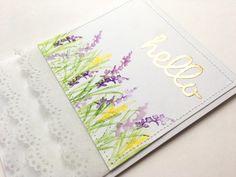 Hello Watercolor Art Impressions Card