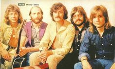 The Moody Blues from a magazine