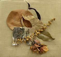 This creative plaque by Sue Pera of Western New York was exhibited at the National Garden Clubs convention in Buffalo, NY in 2012. It uses dried plant materials.