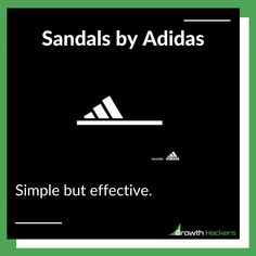 Sandals by Adidas.⠀ ⠀ Simple but effective. Target Customer, Growth Hacking, You Promised, Brand Story, Social Change, Be True To Yourself, Inbound Marketing, Getting To Know You, Listening To You