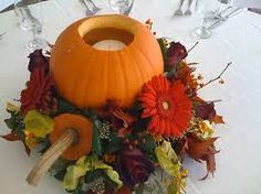 Autumn berries, squashes centrepieces with candles - Google Search