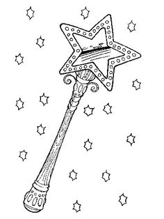 fairy wand free coloring pages fairys