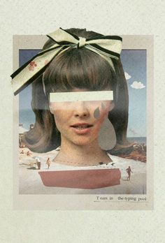 Tears In The Typing Pool Collage Art by Julien Ulvoas