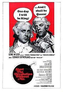 """Springtime for literature about the French Revolution: Gene Wilder and Donald Sutherland in a situation that is also """"The Suite Life"""" meets """"Switched at Birth."""" Directed by Bud Yorkin (in Tandem with Norman Lear). All Movies, I Movie, Crazy Movie, Old Movie Posters, Vintage Posters, Billie Whitelaw, Norman Lear, The Stranger Movie, Switched At Birth"""
