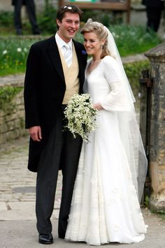 Vogue: MAY 2006 – Laura Parker Bowles, daughter of the Duchess of Cornwall, marries Harry Lopes at the St. Cyriacs Church in Wiltshire. Photo By PA Photos Royal Wedding Gowns, Royal Weddings, Wedding Dresses, Swedish Wedding, Wedding Photos, Wedding Day, Wedding Bells, Princess Grace Kelly, Vestidos