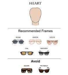 1dd7eb1819 Glass Frames for Heart Face Shape  glasses  sunglasses  eyeglasses Heart  Shaped Face Glasses