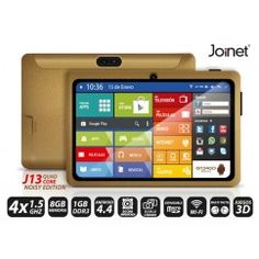 TABLET JOINET J13 QUAD CORE NOISY EDITION, 1GB DDR3, 8GB DE MEMORIA, ANDROID 4.4 KIT KAT COLOR NEGRO
