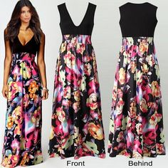 Women Summer Boho Long Maxi Dress Evening Cocktail Party Beach Dresses Sundress in Clothing, Shoes & Accessories, Women's Clothing, Dresses Party Dresses For Women, Beach Dresses, Summer Dresses For Women, Dress Beach, Long Dresses, Maxi Dresses, Casual Dresses, Sleeveless Dresses, Holiday Dresses
