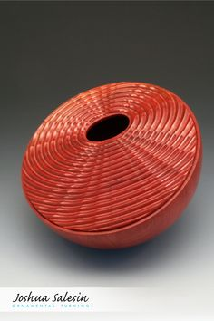 One of a series that explores a variety of shapes, patterns and natural wood color, this  Wave Theory Vessel features geometric waves that eminate from an elliptical opening across a planar surface. Wave Theory, Turned Wood, Woodturning, Small Boxes, Wood Colors, Wood Working, Natural Wood, Bowls, Surface
