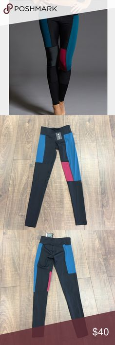 Onzie Fiji Combo Legging Onzie Legging in Color Block Fiji pattern. Stylish and comfortable, perfect for hot yoga or athleisure wear. Sweat wicking fabric, beautiful fit. NEW WITH TAGS. PRICES ARE FIRM. Onzie Pants Leggings