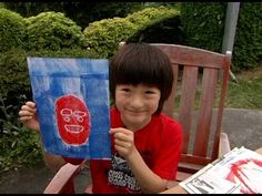 Eye Can Art - Printmaking Kit  using cut paper shapes and a brayer