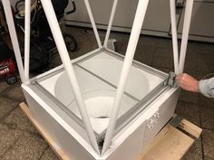 Another Step necessary for remote operation is having a motorized mirror cover, our first prototype is mechanically working. Time to start working on the electric part! Mirror Box, Telescope, Remote, Engineering, Electric, Tech, Cover, Astronomy, Technology