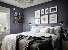 Fotka uživatele Scandinavian interior and design. Scandinavian Interior Bedroom, Room Interior Design, Interior Design Inspiration, Small Room Bedroom, Home Bedroom, Bedroom Decor, Wall Decor, Accent Wall Bedroom, Elegant Homes