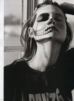 face paint- skull