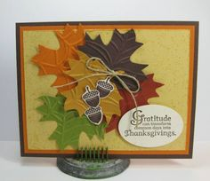 Autumn Leaves Card by Barb Mann - Cards and Paper Crafts at Splitcoaststampers