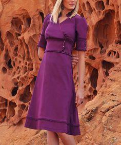 Loving this Diviine ModesTee Petunia Button Surplice Dress on #zulily! #zulilyfinds
