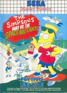 The Simpsons: Bart vs. the Space Mutants (front cover), Master System, Imagineering, 1991 #retrogaming #mastersystem #sega