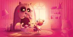Childrens illustration by Huguette Pizzic, via Behance