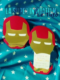 Anniversaire de SUPER-HEROS, les invitations! patron et tuto inside. Superhero Invitations, Diy Invitations, Birthday Invitations, Diy For Men, Diy For Kids, Avengers Birthday, Birthday Diy, Paper Toys, Mini Albums