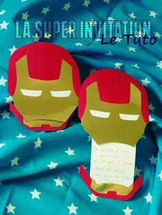 Anniversaire de SUPER-HEROS, les invitations! patron et tuto inside.