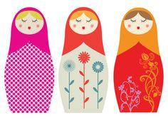 Matryoshka doll print