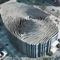 Thailand. Fingerprint building. #amazing #architecture #monochromatic