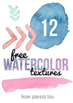 12 free watercolor textures via Persia Lou